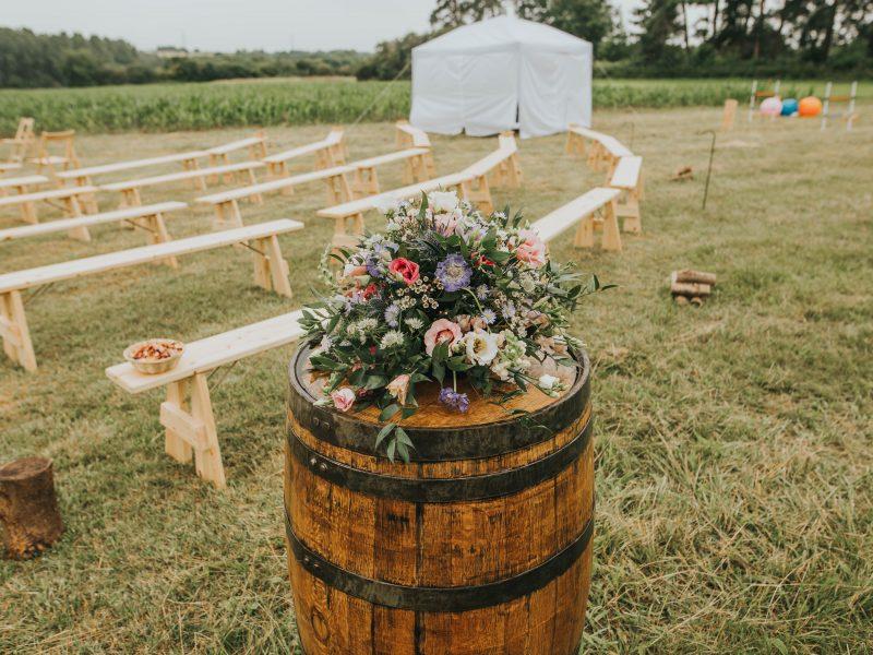 Teepee wedding, The Tipis